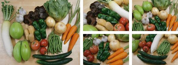 実際のくま野菜セット