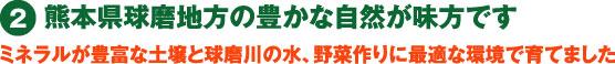 熊本県球磨地方の豊かな自然が味方です
